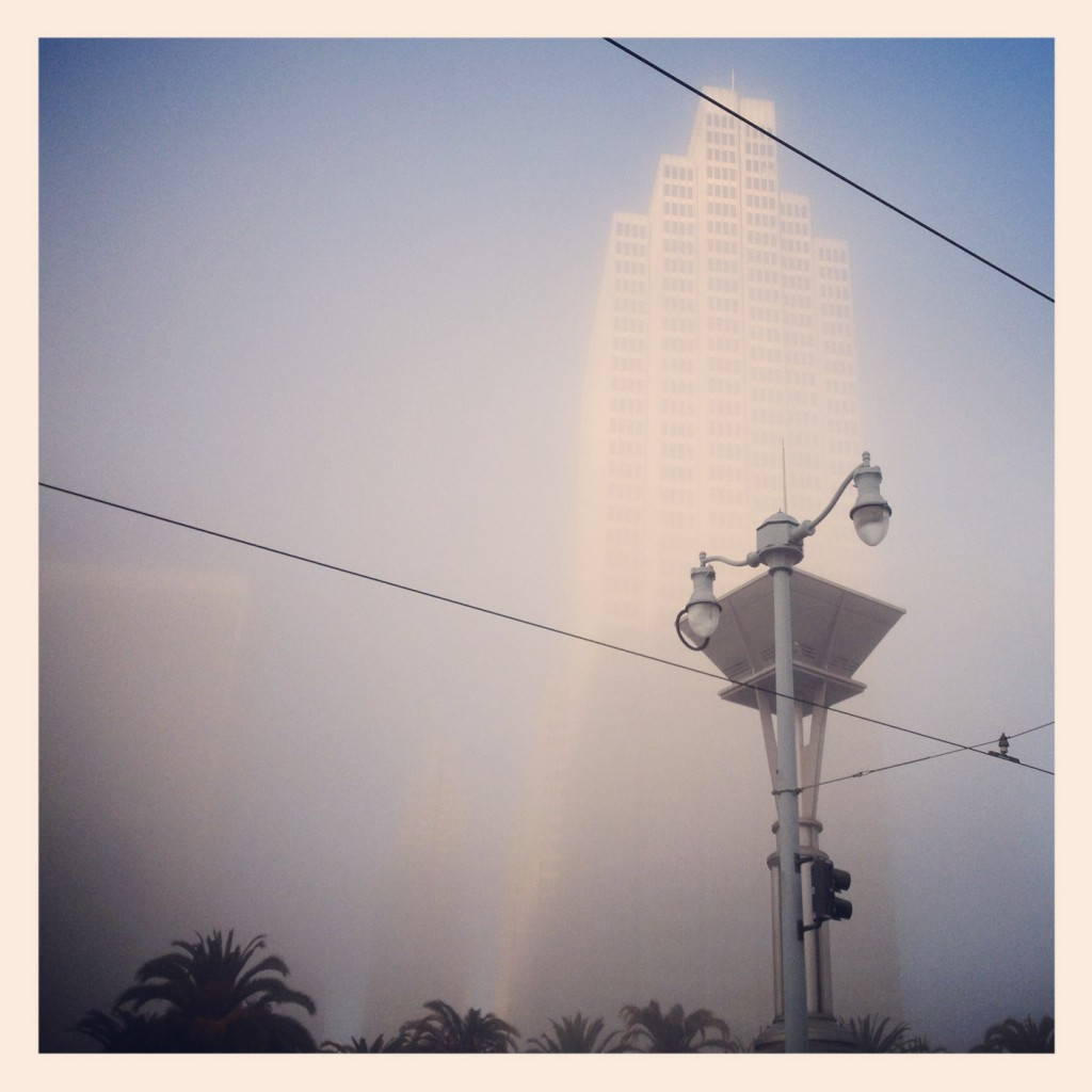 Morning Fog, Embarcadero (Instagram)