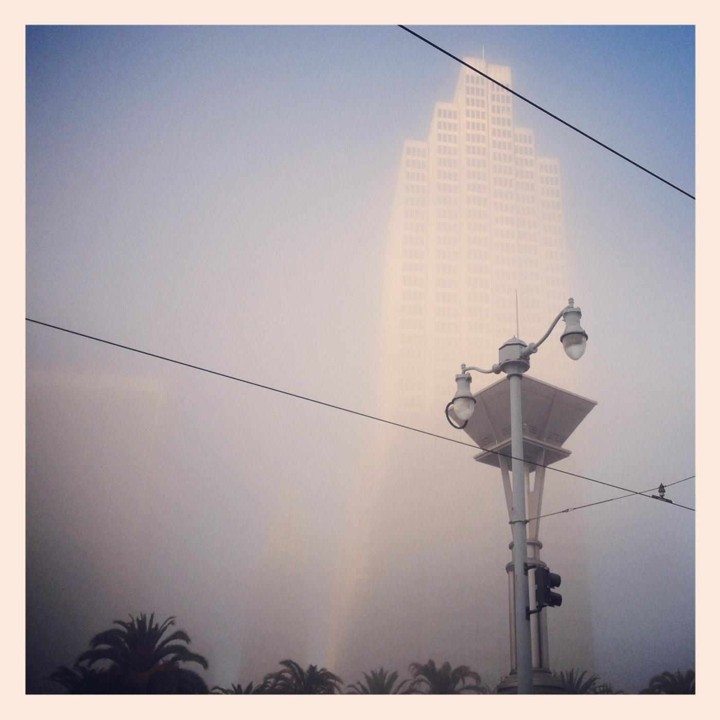 Morning Fog, Embarcadero (Instagram)