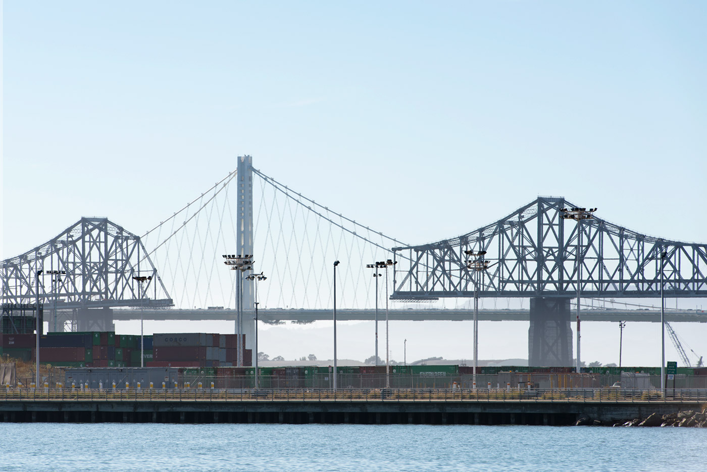The San Francisco - Oakland Bay Bridges, Old and New