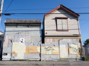 The New California Barber Shop and the House Of God Spiritual Temple, Dogtown, Oakland, mid 2011.