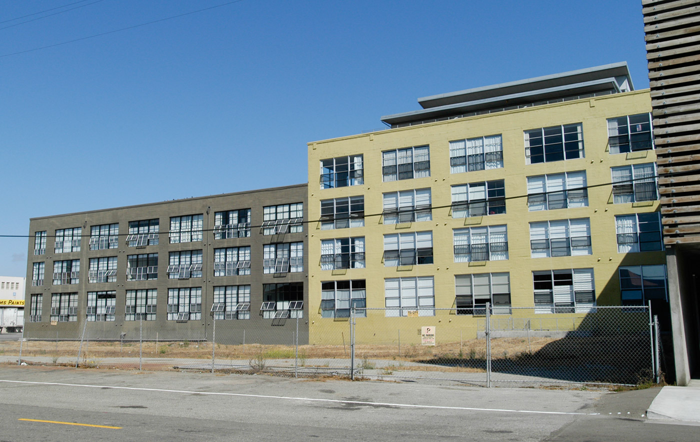 The renovated Emeryville Warehouse Co. building in 2002.