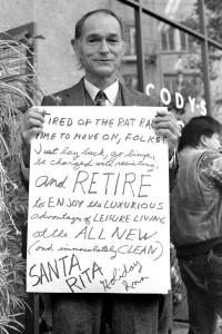 In front of Cody's, People's Park riots, Berkeley 1991.