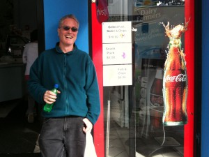 Hamish Reid at Umina Beach fish and chip shop, NSW Central Coast, a couple of years ago.