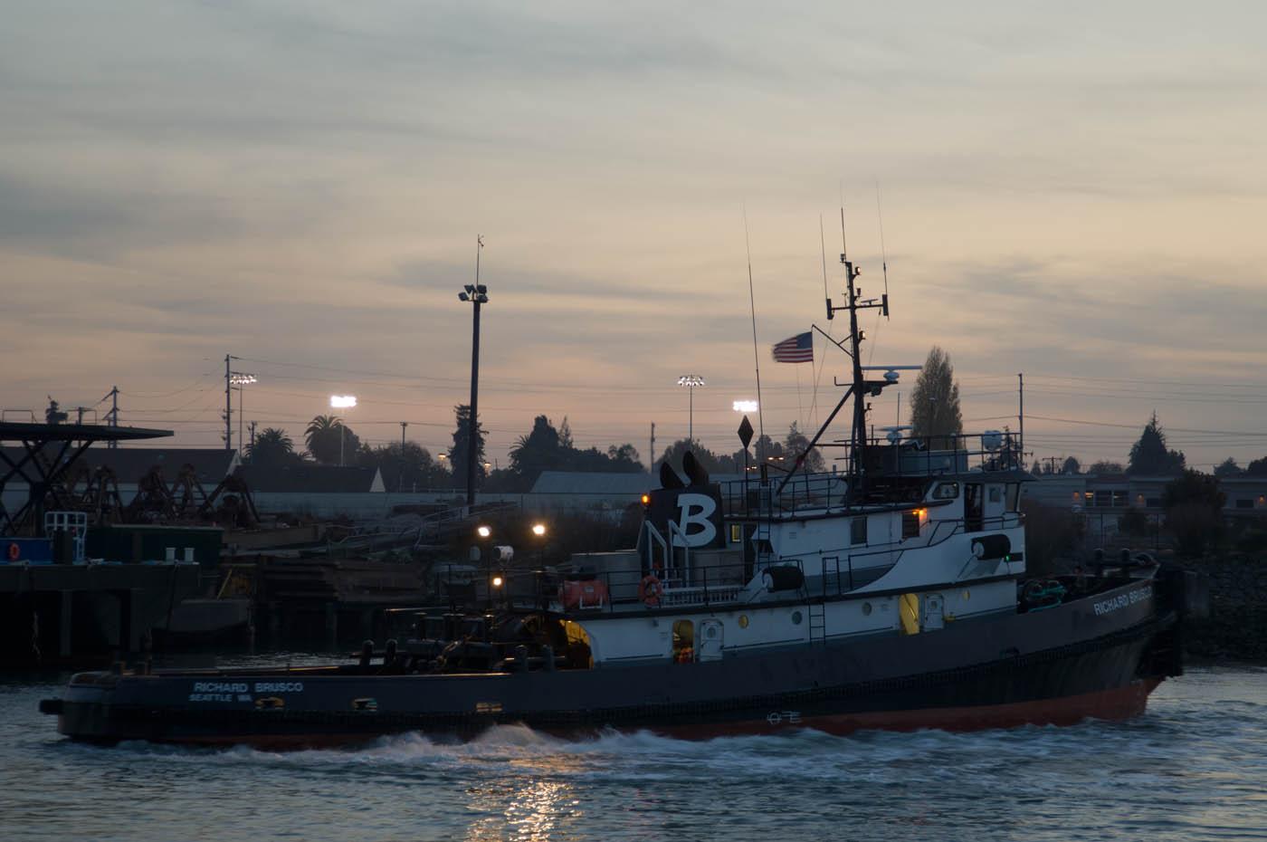 "Tug ""Richard Brusco"" Off The Dutra Yard, Oakland Estuary"