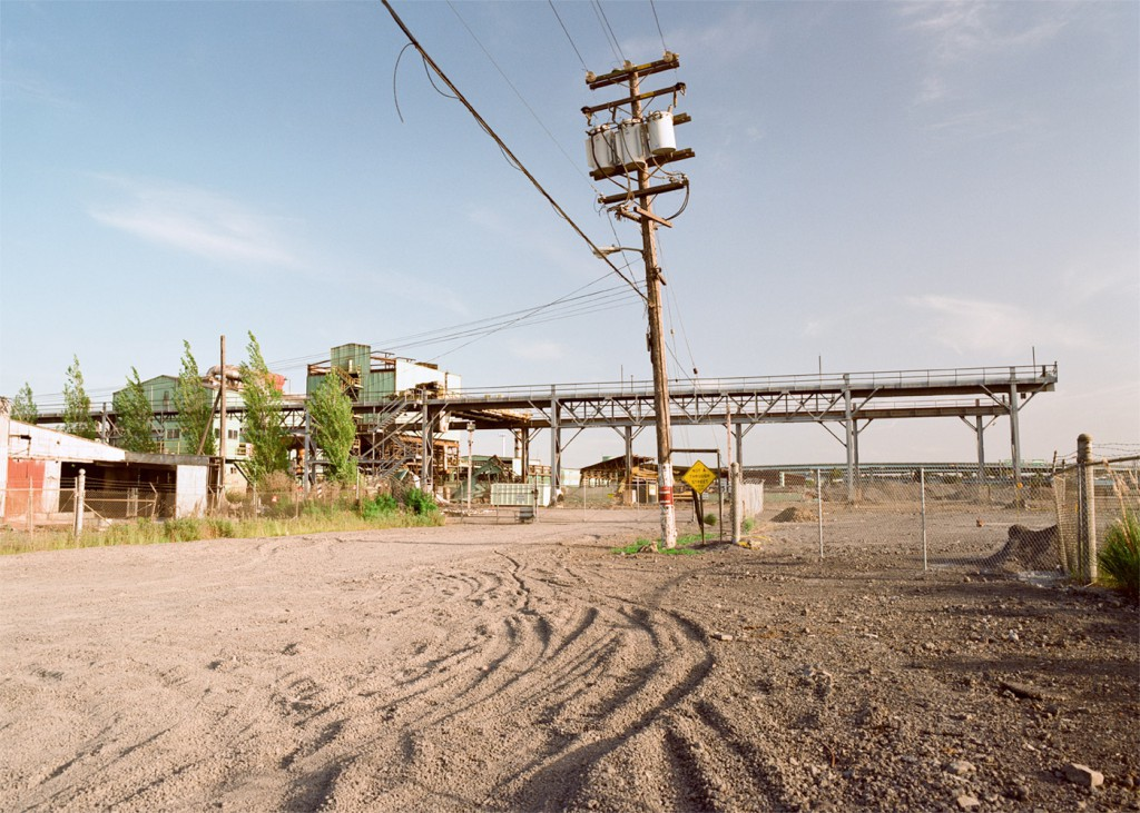 Emeryville's Shellmound Street used to dead-end here at the Barbary Coast Steel plant (1991?).