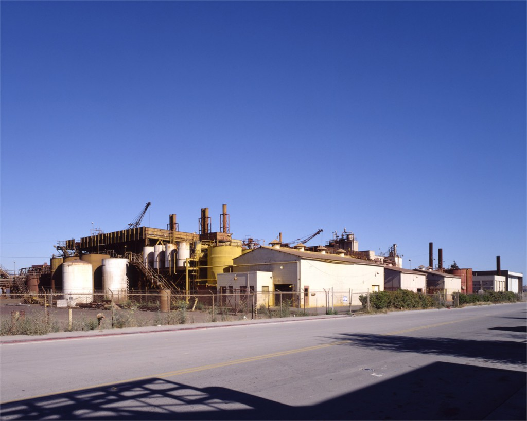 The Pigment Factory, Shellmound Street, Emeryville, early 1990's. Now the site of the Bay Street Mall.